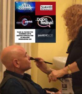 Rolando Ravello al make-up di Luisa Festa