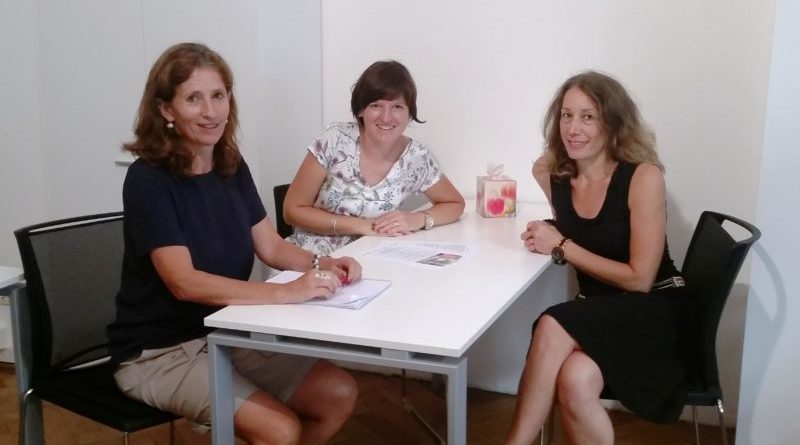 Sostegno familiare precoce da sin. Christa Ladurner, Sabine Krismer, Sandra Girardi