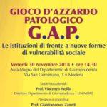 Modena. Le istituzioni di fronte al gioco d'azzardo patologico