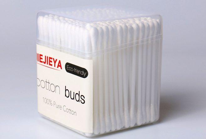 bastoncini di plastica per la pulizia delle orecchie