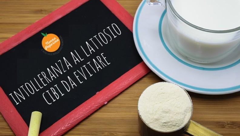 intolleranza al lattosio cibi da evitare