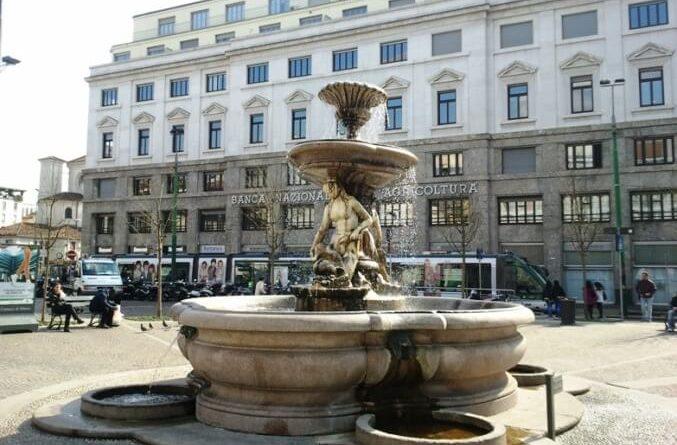le fontane di Milano - piazza Fontana