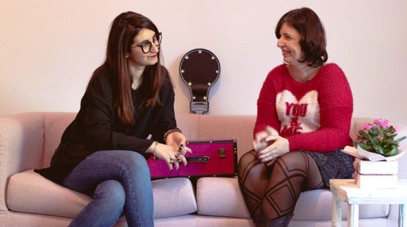 Tra le braccia di un gigolò - da sinistra, Eleonora Marsella editrice insieme all'autrice Roberta Caradonna
