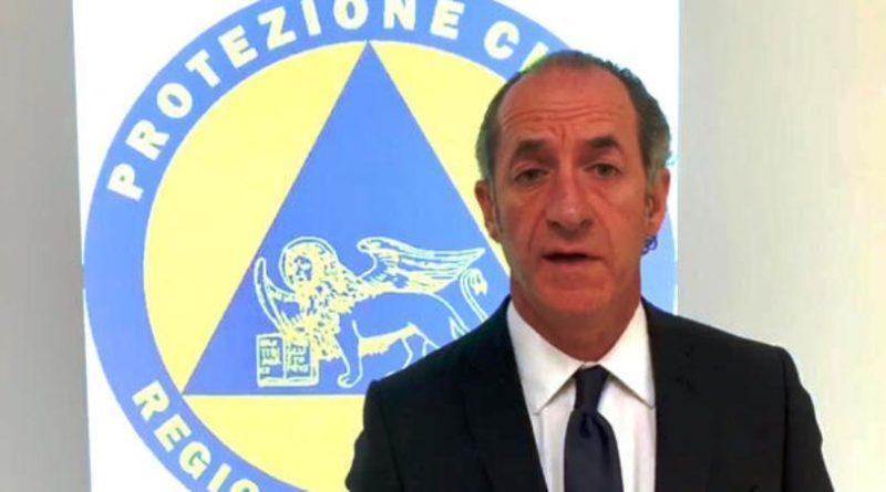 Il Governatore veneto Luca Zaia