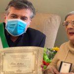 Edoardo Tocco ha fatto visita alla nuova centenaria cagliaritana Rina Arbus