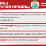 Covid. Dipartimento protezione civile avvia procedure per reclutamento 496 unità di professionisti sanitari a supporto regione Umbria